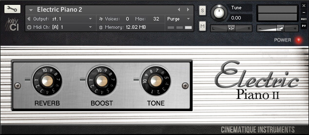 Cinematique Instruments Electric Piano review - best Virtual Rhodes Electric Pianos