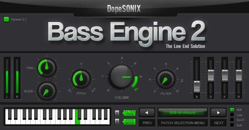 Dopesonix Bass Engine 2 review - 808 bass vst free