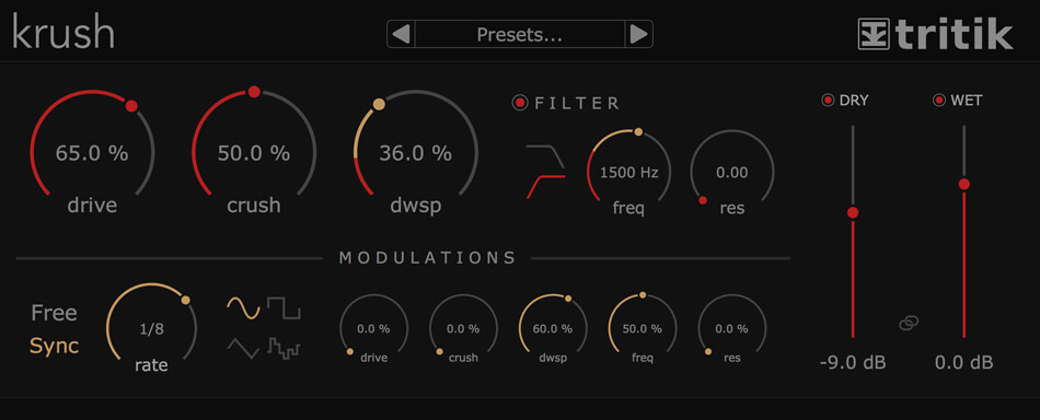 Tritik Krush bitcrusher review - distortion vst free