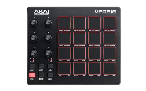 Akai Professional MPD218 portable midi keyboard to make beats