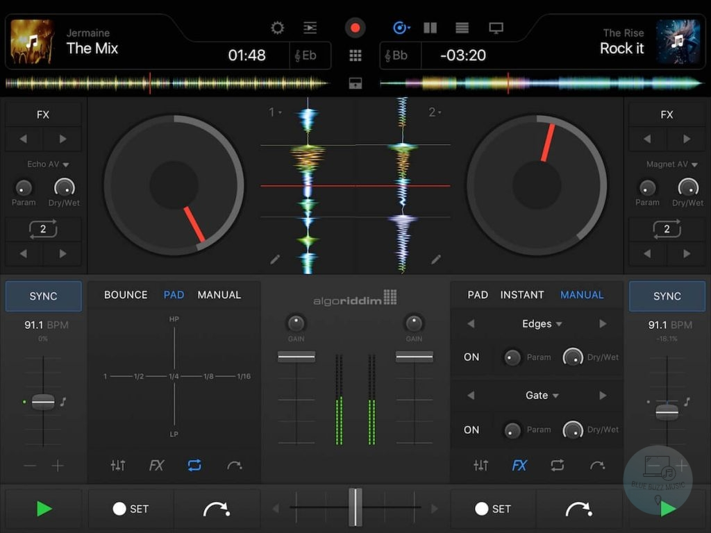 Algoriddim DJAY best free dj software app for iphone, ipad, android