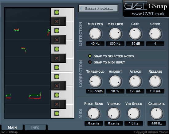 GSnap review - free autotune vst plugin for fl studio, ableton, pro tools, logic pro x, garage band