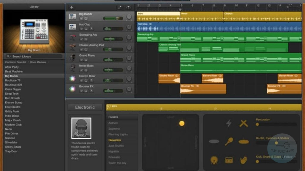 GarageBand best free daw for mac and apple