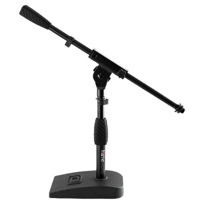 Gator Frameworks Short Weighted Base Microphone Stand for Blue Snowball