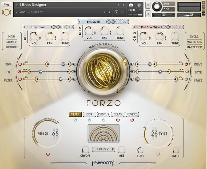 Heavyocity Forzo Modern Brassreview modern brass library - traditional, hybrid bass vst and tempo-synced loops