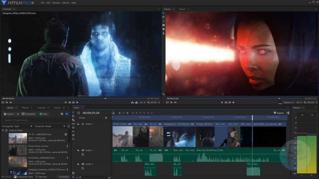 Hitfilm Express free video editing software vfx download