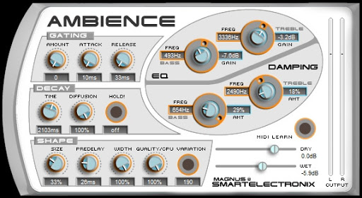 SMARTELECTRONIX AMBIENCE REVERB review - reverberation vst plugin