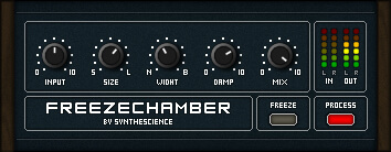 SYNTHESCIENCE FREEZE CHAMBER review - best free vst plugin reverb