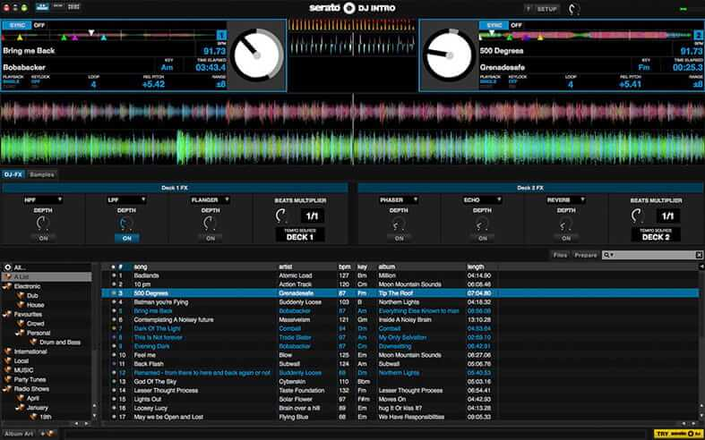 Serato DJ Lite free dj software for beginners