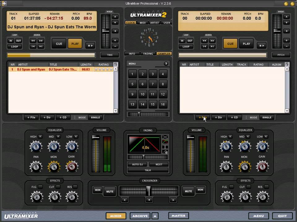 UltraMixer is best free dj software for mobile and wedding djs