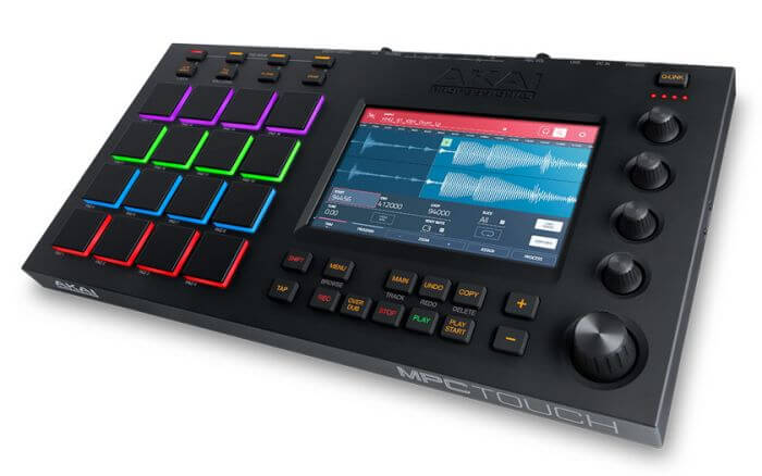 Akai Professional MPC Touch - best touchscreen drum machine samplers for beginners