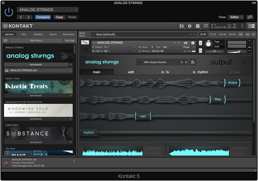 Output Analog Strings ample electric guitar vst download