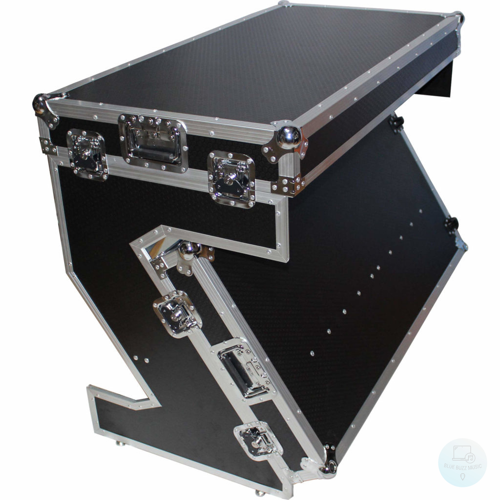 ProX Z-Style Standard DJ Table and Flight Case - dj desk workstations studio booth