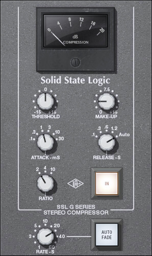 UAD SSL 4000 G Bus Compressor best mastering vst plugin for compression