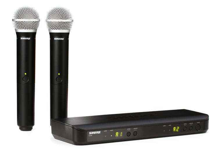 Shure BLX288-PG58 - best shure wireless microphone djing