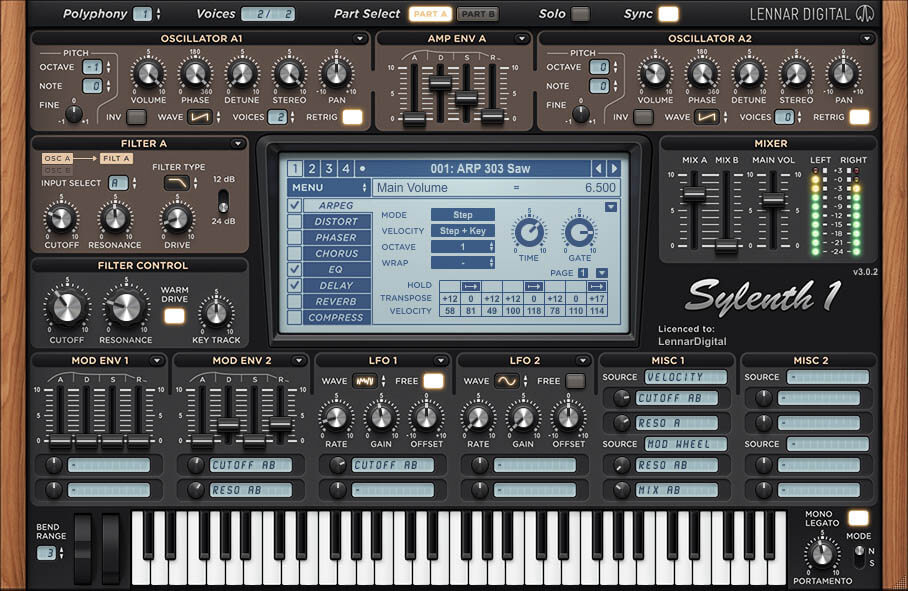Sylenth1 (Lennar Digital) - one of the top synth rompler vst plugins but not free