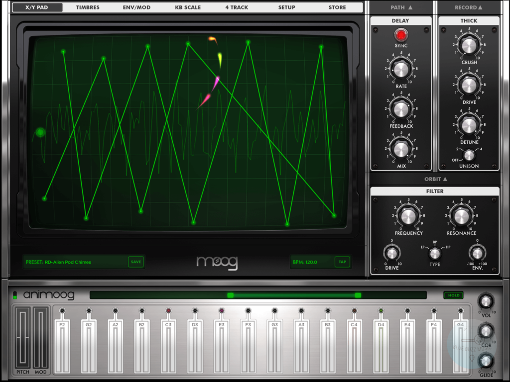 Animoog - best software application for music producers