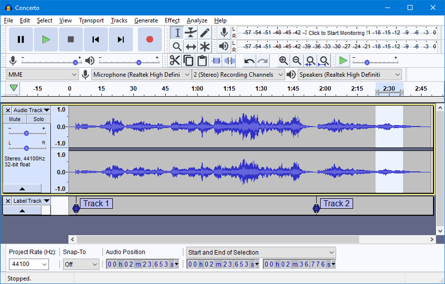 Audacity - best music making apps for producers