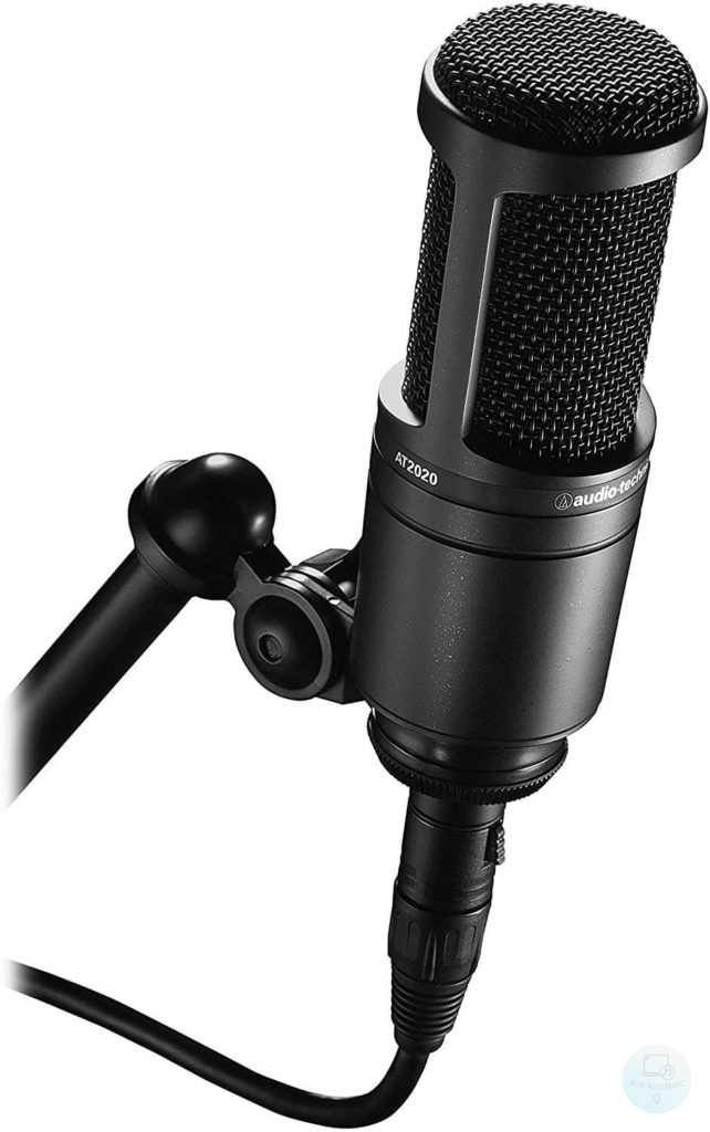 Audio-Technica AT2020 - best cardioid condenser studio microphone for youtube and twitch vlogging