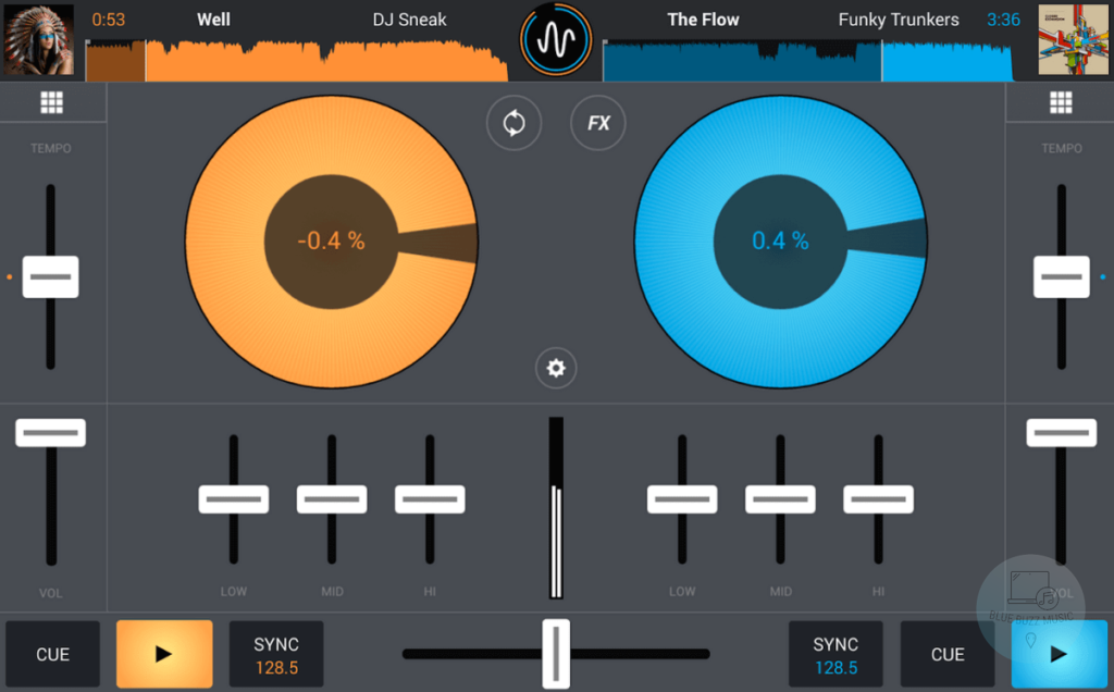 Cross DJ - dj software application for android phones and tablets free