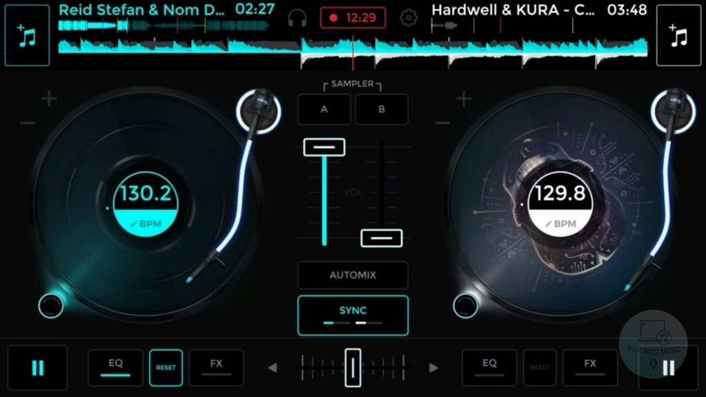 Edjing Mix - free edm mixing djing sofware application for ios ipad and iphone