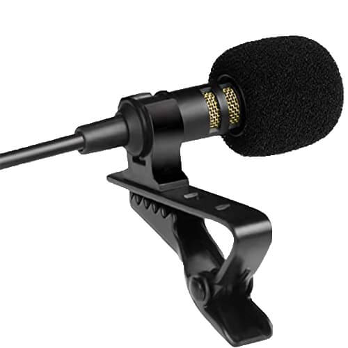 PowerDewise Professional Grade Lavalier - best cheap budget affordable lavalier microphone for youtube interview vlogging