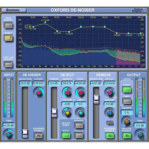 Sonnox Oxford DeNoiser - cheap budget affordable noise removal reduction vst plugin download