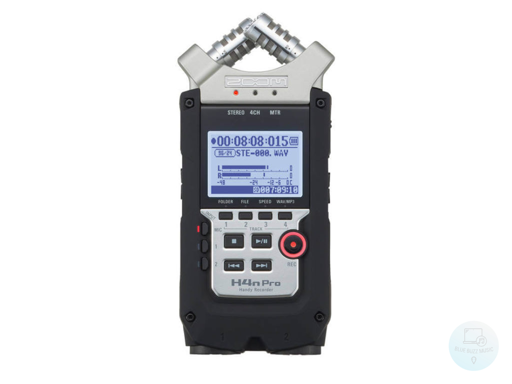 Zoom H4N Pro - best handheld recorder usb audio interface for youtube vlogging