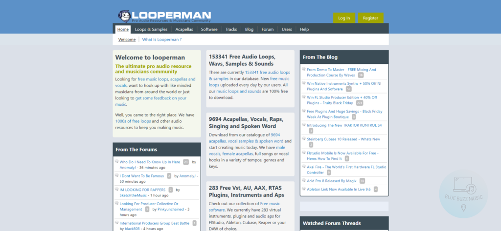 looperman review - free acapella loops ans songs 140 bpm