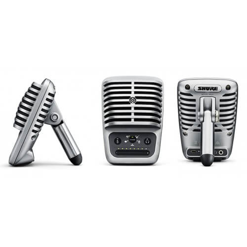 Shure MV51 - best podcast and streaming micropone for apple and ios phones and tablets
