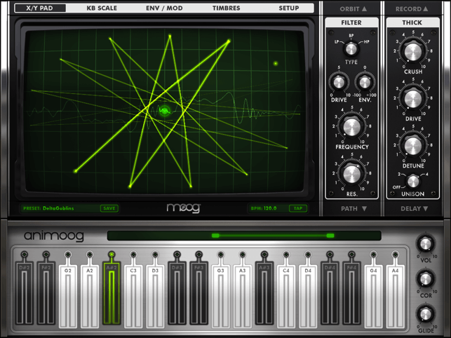 Animoog - best mobile synth app for making beats