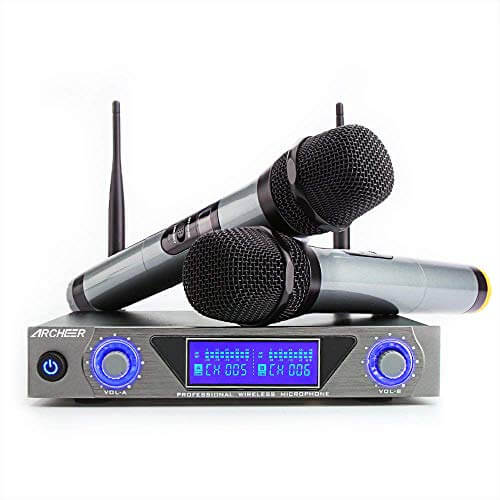 Archeer UHF - best cheap budget affordable karaoke microphone for singing