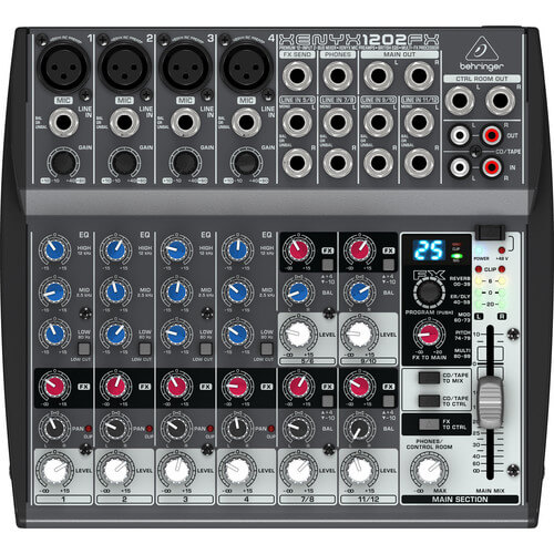 Behringer Xenyx 1202FX - best small cheap mixer for home studio