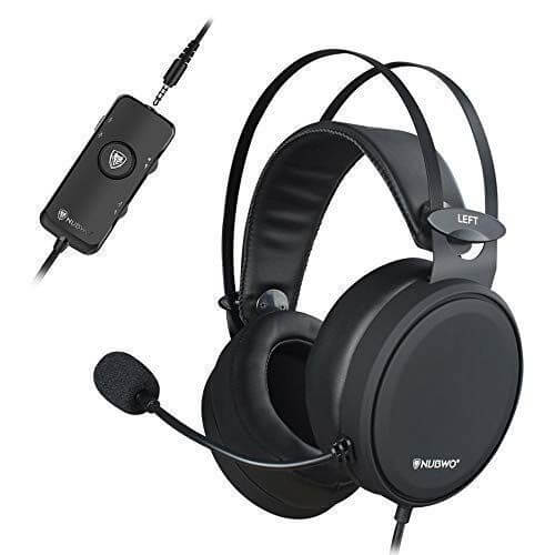 Nubwo Gaming Headset - best cheap gaming headset with microphone for aaa games and fps shooters
