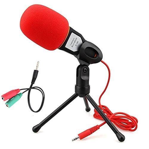 Soonhua 3.5MM Plug and Play Omnidirectional Mic - small budget usb microhpone for gaming