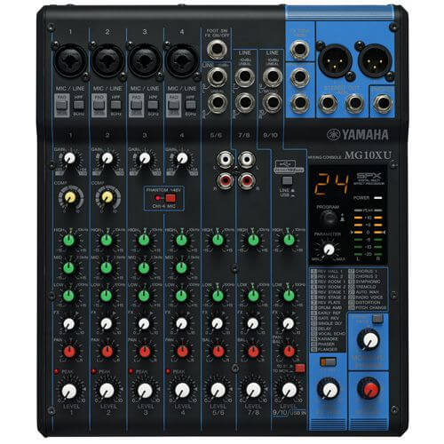 Yamaha MG10XU - best small digital powered mixers for live sound