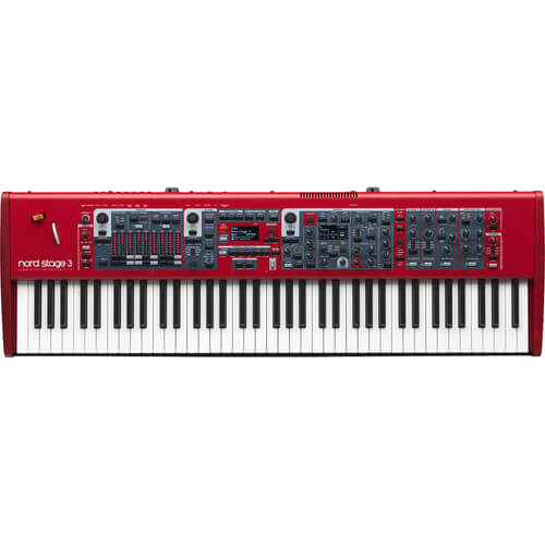 Nord Stage 3 HP76 - best professional hammer action digital piano keyboard