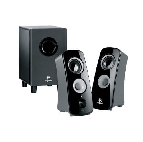 Logitech Speaker System Z323 - best vintage speakers for audio technica record players