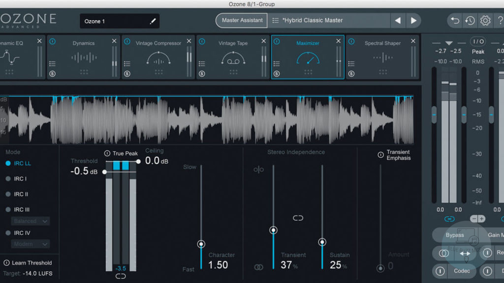 Ozone 8 - best professional vst plugin for edm music production