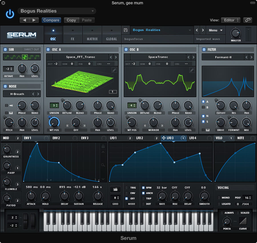 Serum by Xfer - best electronic music vst plugins for beginners